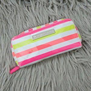 VICTORIA'S SECRET Striped Travel Makeup Brush Bag
